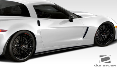 Chevy Corvette GT500 Duraflex Side Skirts Body Kit 2005-2013