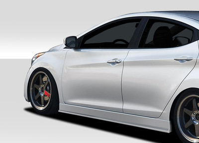 Fits Hyundai Elantra Racer Duraflex Side Skirts Body Kit 2011-2015
