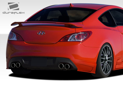 Fits Hyundai Genesis 2DR J-Spec Duraflex Rear Add On Body Kit Bumper 2010-2015