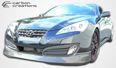 Fits Hyundai Genesis 2DR MS-R Carbon Fiber Front Bumper Lip Body Kit 2010-2012