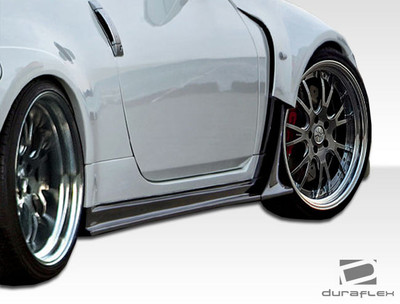 Fits Nissan 350Z AM-S Duraflex Side Skirts for Wide Body Kit 2003-2009