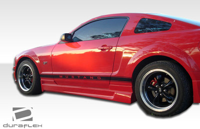 Ford Mustang Racer Duraflex Side Skirts Body Kit 2005-2014