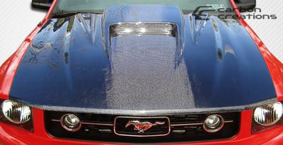 Ford Mustang Spyder 3 Carbon Fiber Creations Body Kit- Hood 2005-2009
