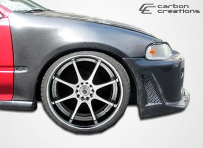 Honda Civic 2DR OEM Carbon Fiber Creations Body Kit- Fenders 1992-1995