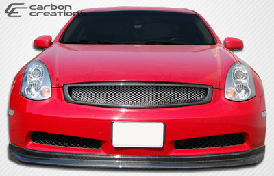 Infiniti G Coupe 2DR D-Spec Carbon Fiber Front Bumper Lip Body Kit 2003-2007
