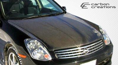 Infiniti G Sedan 4DR OEM Carbon Fiber Creations Body Kit- Hood 2003-2004