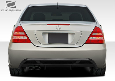 Mercedes C Class 4DR V2 Look Duraflex Rear Body Kit Bumper 2001-2007