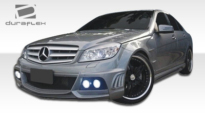 Mercedes C Class 4DR W-1 Duraflex Full 4 Pcs Body Kit 2008-2011