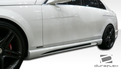 Mercedes C Class 4DR W-1 Duraflex Side Skirts Body Kit 2008-2014