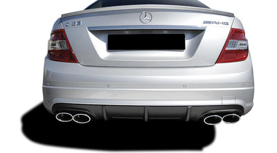 Mercedes C Class C63 w/ PDC V1 Look Vaero Rear Body Kit Bumper 2008-2014