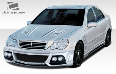 Mercedes C Class W-1 Duraflex Full 7 Pcs Body Kit 2001-2007