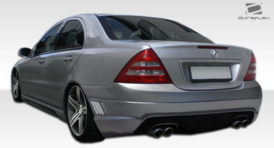Mercedes C Class W-1 Duraflex Rear Body Kit Bumper 2001-2007