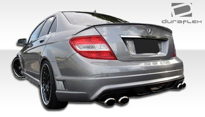 Mercedes C Class W-1 Duraflex Rear Body Kit Bumper 2008-2014