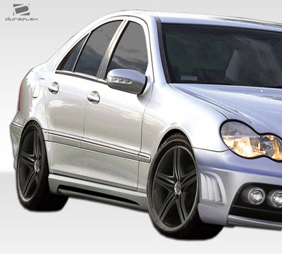 Mercedes C Class W-1 Duraflex Side Skirts Body Kit 2001-2007