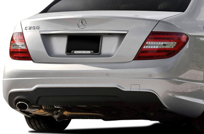 Mercedes C250 w/ PDC C63 V2 Look Vaero Rear Body Kit Bumper 2008-2014