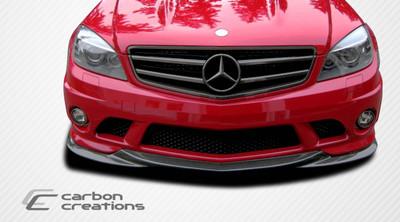Mercedes C63 L-Sport Carbon Fiber Creations Front Bumper Lip Body Kit 2008-2011