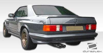 Mercedes S Class 2DR AMG Look Duraflex Rear Wide Body Kit Bumper 1981-1991