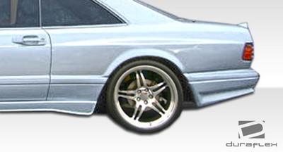 Mercedes S Class 2DR AMG Look Duraflex Wide Fender Flares 1981-1991