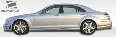 Mercedes S Class S65 Look Duraflex Side Skirts Body Kit 2007-2013