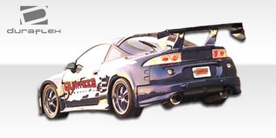 Mitsubishi Eclipse Q Flared Duraflex Rear Add On Body Kit Bumper 1995-1999