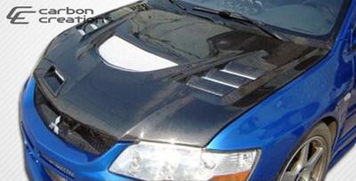 Mitsubishi Evolution C-1 Carbon Fiber Creations Body Kit- Hood 2003-2006