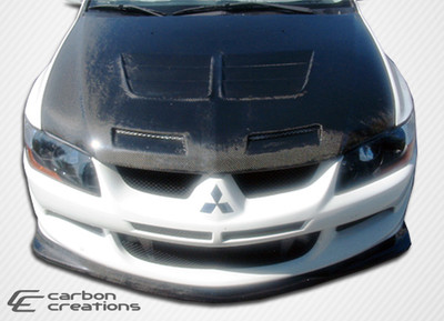 Mitsubishi Evolution Demon Carbon Fiber Front Bumper Lip Body Kit 2003-2005