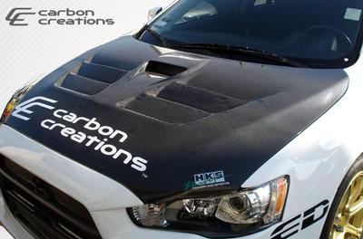 Mitsubishi Evolution GT Concept Carbon Fiber Creations Body Kit- Hood 2008-2014