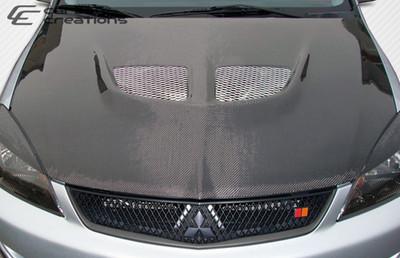 Mitsubishi Lancer Evo Carbon Fiber Creations Body Kit- Hood 2004-2007