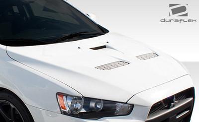 2008-2015 Mitsubishi Lancer / Lancer Evolution 10 Duraflex Evo X Look Hood