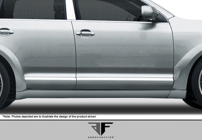 Porsche Cayenne AF-1 Aero Function Side Skirts for Wide Body Kit 2003-2010
