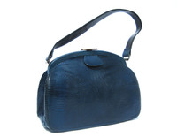 Peacock BLUE 1950's-60's LIZARD Skin Handbag - LESCO