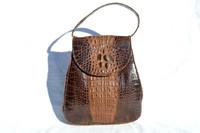 1920's-30's PETITE Hornback Alligator Skin Handbag