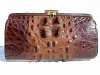 1930's Hornback ALLIGATOR Skin Clutch Bag