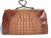 FABULOUS 1920's-30's EDWARDIAN Hornback ALLIGATOR Skin Purse