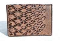 Fabulous COCOA Brown 1950's ANTEATER Skin Business CARD Case Wallet