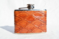 Custom ANTEATER Skin 4 Oz. Stainless WHISKEY Flask - NEW!