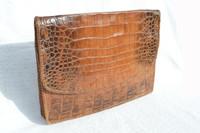1950's ALLIGATOR Belly Skin Business PORTFOLIO Folder iPAD Case