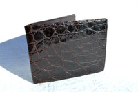 Men's 1950's-60's Slim Brown ALLIGATOR Skin Wallet Billfold
