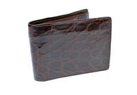 Men's 1950's-60's Chocolate Brown Alligator Skin Wallet Billfold - Maximillian