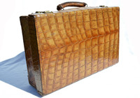 1930's-40's Antique ALLIGATOR Skin Travel Case Briefcase Luggage