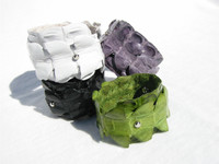 New! Edgy & Awesome CROCODILE TAIL Skin Wrap CUFF Bracelet G1A-091
