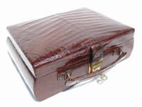 RARE 1930's-40's Alligator Skin Jewelry Cigar Case with Key