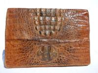 X-Large 1940's-50's HORNBACK CROCODILE Skin PORTFOLIO Case