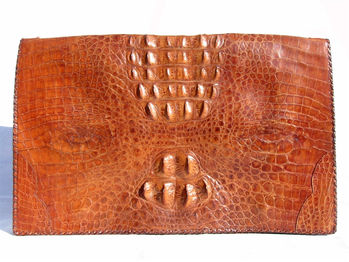af209b106 X-Large 1940's-50's HORNBACK CROCODILE Skin PORTFOLIO/Case - Vintage ...