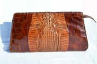 "Lovely 14"" 1950's HORNBACK Crocodile Skin CLUTCH Bag"