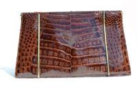 1980's Brown Crocodile Clutch Shoulder Bag - COLOMBETTI - Italy