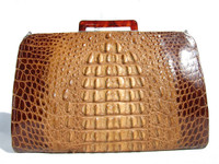 VOGUE 1940's-50's HORNBACK Alligator Skin CLUTCH Handbag