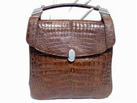 1980's-90's COCOA CROCODILE Belly Skin SHOULDER Bag