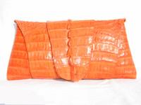 New! ROCKSTAR *ORANGE* Hornback CROCODILE TAIL Wrap CLUTCH