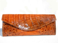 NEW 2007 PUMPKIN Crocodile Skin Envelope Clutch Bag